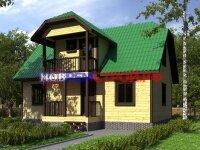 красивый дом с полувальмовой крышей